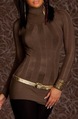 WOMAN PULLOVER SMARAGD BROWN