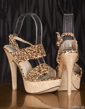 WOMAN LEON BEIGE PLATFORM HIGH HEELS SANDALS