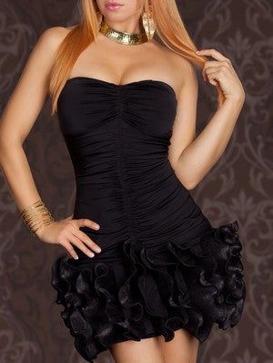 Festive Balerina Black Mini Dress