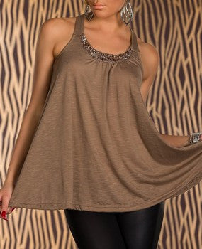 WOMAN TOP CORRY COFFE