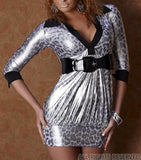 METAL GLOSSY SILVER TOP LEONA