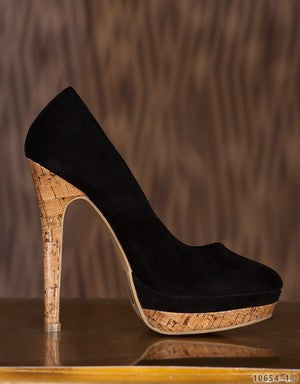 WOMAN BLACK SUEDE PUMPS SPRING