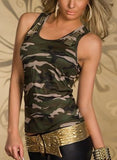 ARMY STYLE GREEN CAMO TANK TOP