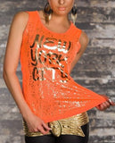 WOMAN T SHIRT CAPRI ORANGE