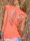 WOMAN T SHIRT ANGIE ORANGE
