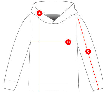 Kids hoodies size chart