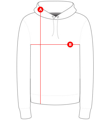 Mens hoodies size chart