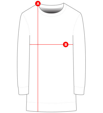 Long sweaters size chart