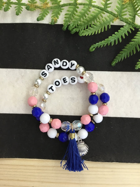 Mish Mash Boutique - Kids Beaded Letter Bracelets