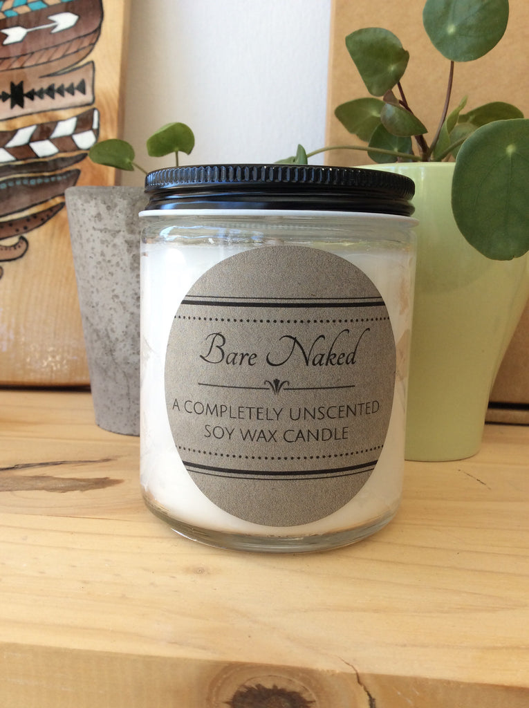 Bare Naked Unscented Candle