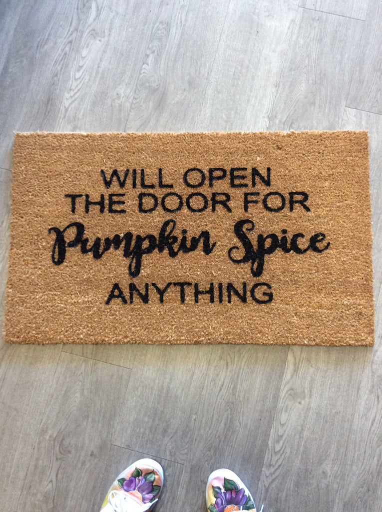 Pumpkin Spice Welcome Mat