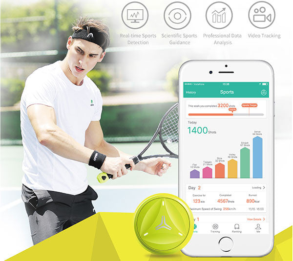 How to connect Coollang smart tennis sensor to your smartphone?