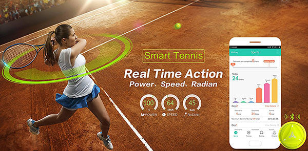 How does the Coollang Smart Tennis sensor helps tennis training?