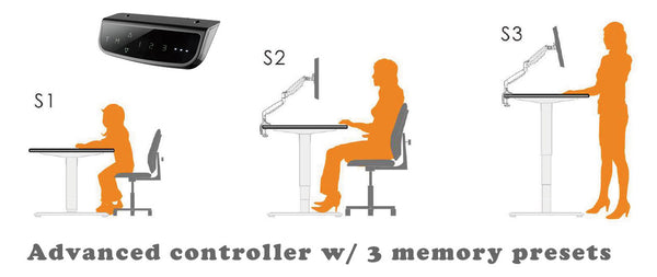 electric desk 3 memory preset
