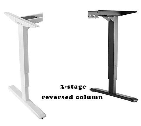 electric desk reversed columns