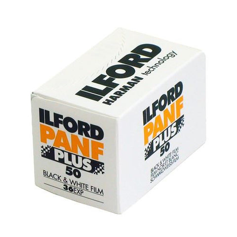 Ilford Pan F Plus 35mm, 36 exposure, ISO50 B&W (Pack Size Options)