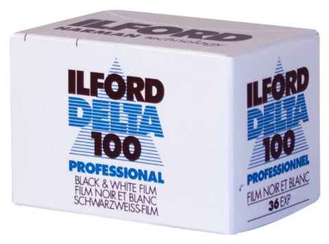 Ilford Delta 100 35mm 36 Exposures B&W  Negative Film (Pack Size Options)