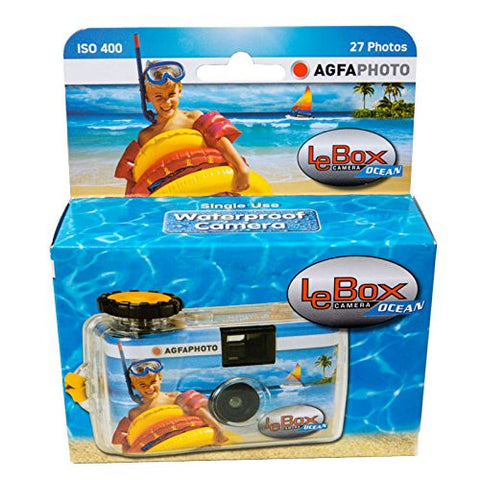 Agfa Le Box Ocean Waterproof Single Use Camera ( ISO400, 35mm 27 exposure) Pack Size Options