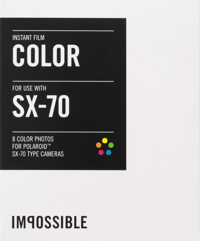 ImpossibleCool Colour Shade Instant Film for Polaroid SX70 Camera (Pack Size Options)