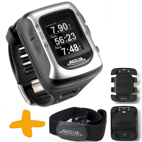Magellan Switch UP GPS Sports Watch w/ Heart Rate Monitor & Mounts (Crossover GPS Watch for multiple sport activities: Running, Jogging, Swimming, Cycling, Waterproof to 50 Metres)