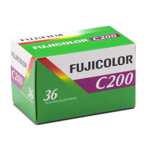 Fujifilm Fujicolor C200 - 36exp 35mm Color Negative Film (pack size Options)