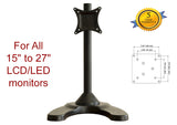 MMS10S Heavy Duty Single LCD Monitor Desk Mount Bracket Tilt Swivel Rotate