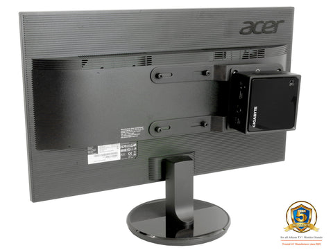 Universal NUC/ Mini PC Mount for Mounting to LCD Monitor or Monitor Arms