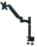 GSA12S Gas Spring Desk Mount LCD Monitor Stand w/ vesa bracket & monitor arm: free up/down & left/right motion (Colour Options Available)