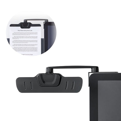 Allcam Over Monitor Paperclip Document Holder Arm Ergonomic Document Clip Holder
