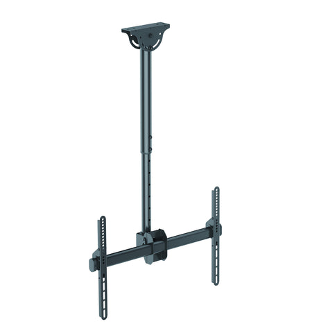 "Allcam Single or Twin Heavy Duty TV Bracket Ceiling Mount w/ Tilt Up & Down 25°, Swivel 360°, 6° Level Adjustment , Ceiling Drop Height 560 to 910mm (20 to 36"")"