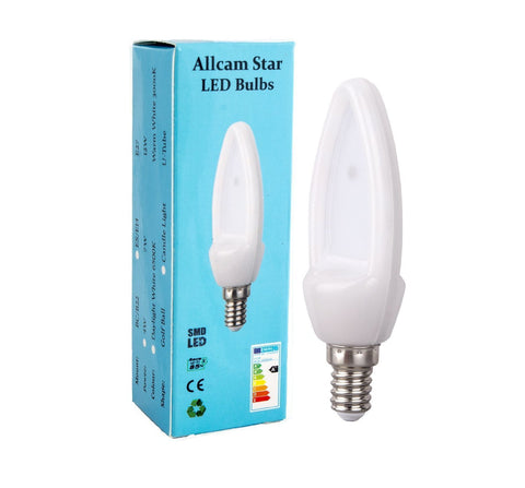 Allcam Star 4W E14 LED Candle Light Bulb 350lm ~40W Incandescent (pack size Options)