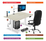 Allcam Electric Height Adjustable Desk Frame/Sit-stand Workstation in White or Black (frame only)
