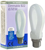Allcam Dimmable 7W Bayonet B22 Warm White LED Bulb 630lm ~60W Incandescent Globe Lights (pack size Options)
