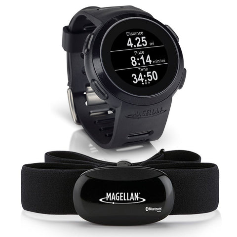 Magellan Echo Smart Sports Watch (Black) + Bluetooth Heart Rate Monitor