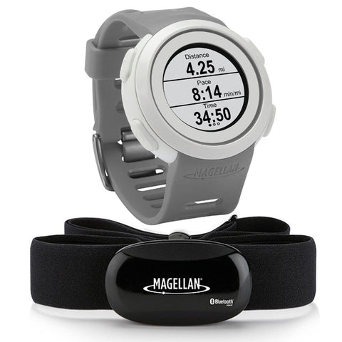 Magellan Echo Smart Sports Watch (Grey) + Bluetooth Heart Rate Monitor