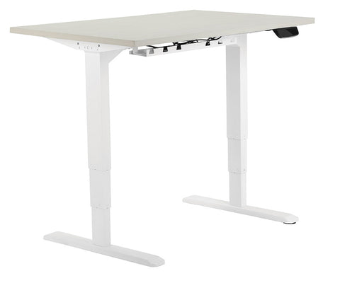 Allcam Electric Dual-motor Height Adjustable Desk Frame / Sit-stand Workstation w/ 3 Memory Presets in White