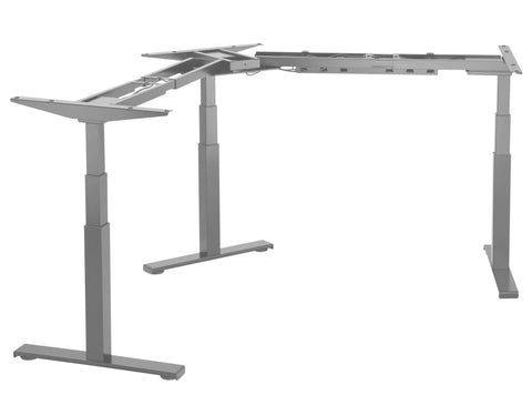 EDF03T Triple Motor Sit-Stand Radial Desk Frame L- or Y-shape (90°/120°)