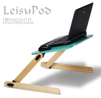 LeisuPod Foldable Laptop Desk FD201G Green On-Bed Computting