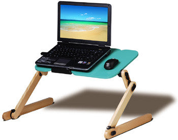 LeisuPod Foldable Laptop Desk FD301G Green On-Bed Computting