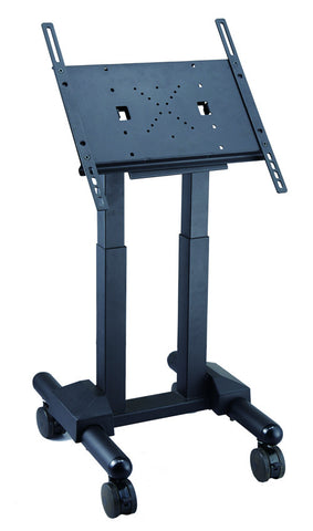 FS1043 short Exhibition Display Stand TV Trolley Floor Stand w/ Mounting Bracket for LCD/ LED/ Plasma TVs / Monitors