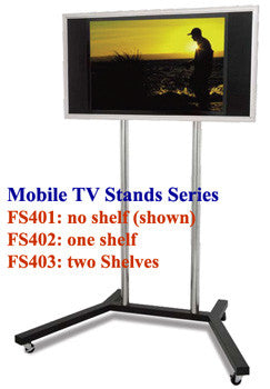 "FS401 Mobile TV Stand for 22"" to 60"" Plasma/LCD TVs w/ TV mounting Bracket"