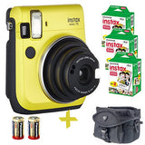 Fuji Mini 70 Instant Camera w/ Case, Spare Batteries, and Film (Colour and multi-shot Options)