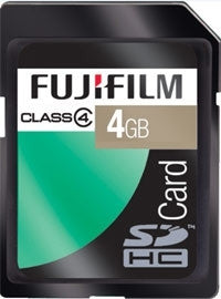 Fuji 4GB SDHC Memory Card SD High Capacity Class 4 Fujifilm