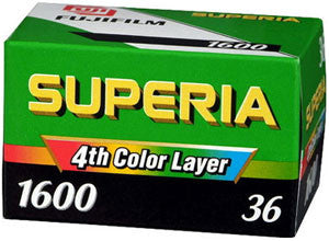 FUJI Superia 1600 35mm 36 Exp Color Negative Film