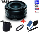 Fuji XF 18mm F2 R Lens +UV Lens Filter + Pouch+ Cleaning Kit
