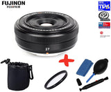 Fuji XF 27mm F2.8 Black Lens +UV Lens Filter + Pouch+ Cleaning Kit