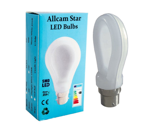 Allcam Star 7W B22 LED bulb Bayonet 600lm ~60W Incandescent Globe Light (pack size & beam colour Options)