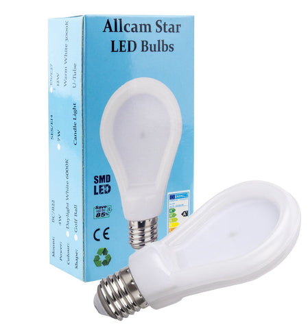 Allcam Star 7W E27 LED bulb Edison Screw 600lm ~60W Incandescent Globe Light (pack size Options)