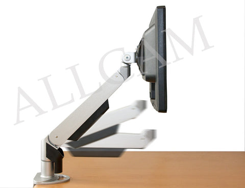 GSD100 Gas Spring Desk Mount LCD/LED Monitor Stand w/ vesa bracket: free up/down & left/right motion