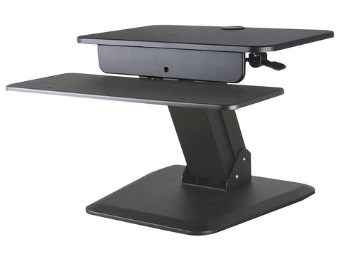 Allcam GSS03BAS Sit-Stand Workstation for Lower Back Pain Relief due to Prolonged Sitting Hours
